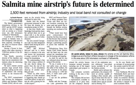 Salmita Mine - NEWS
